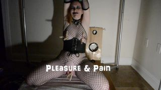 Redhead Milf Amateur masturbation with vibrator and clothespins with orgasm / The Lost Tapes #1