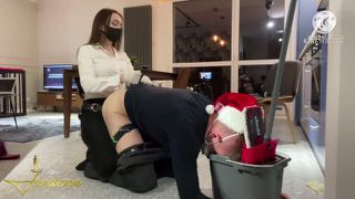 Congrarulated bitch with head In bucket- full clip on my Onlyfans (link In bio)