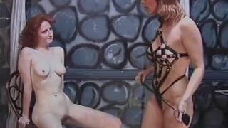 Redhead slut gets spanked hard
